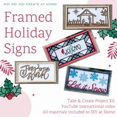 Framed Holiday Sign