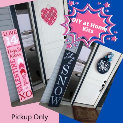 Porch Leaner & Door Hanger DIY at Home Kits (Valentines & Let it Snow)