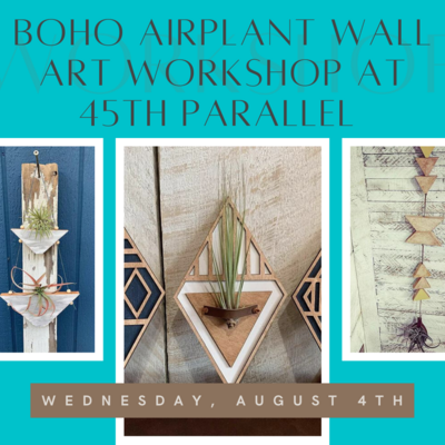 Boho AIRPLANT Wall Art Workshop at 45th Parallel