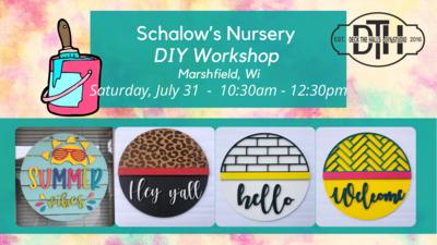 Schalow's Nursery DIY Workshop