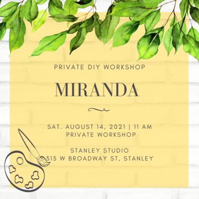 Miranda's Private Workshop - Stanley Studio