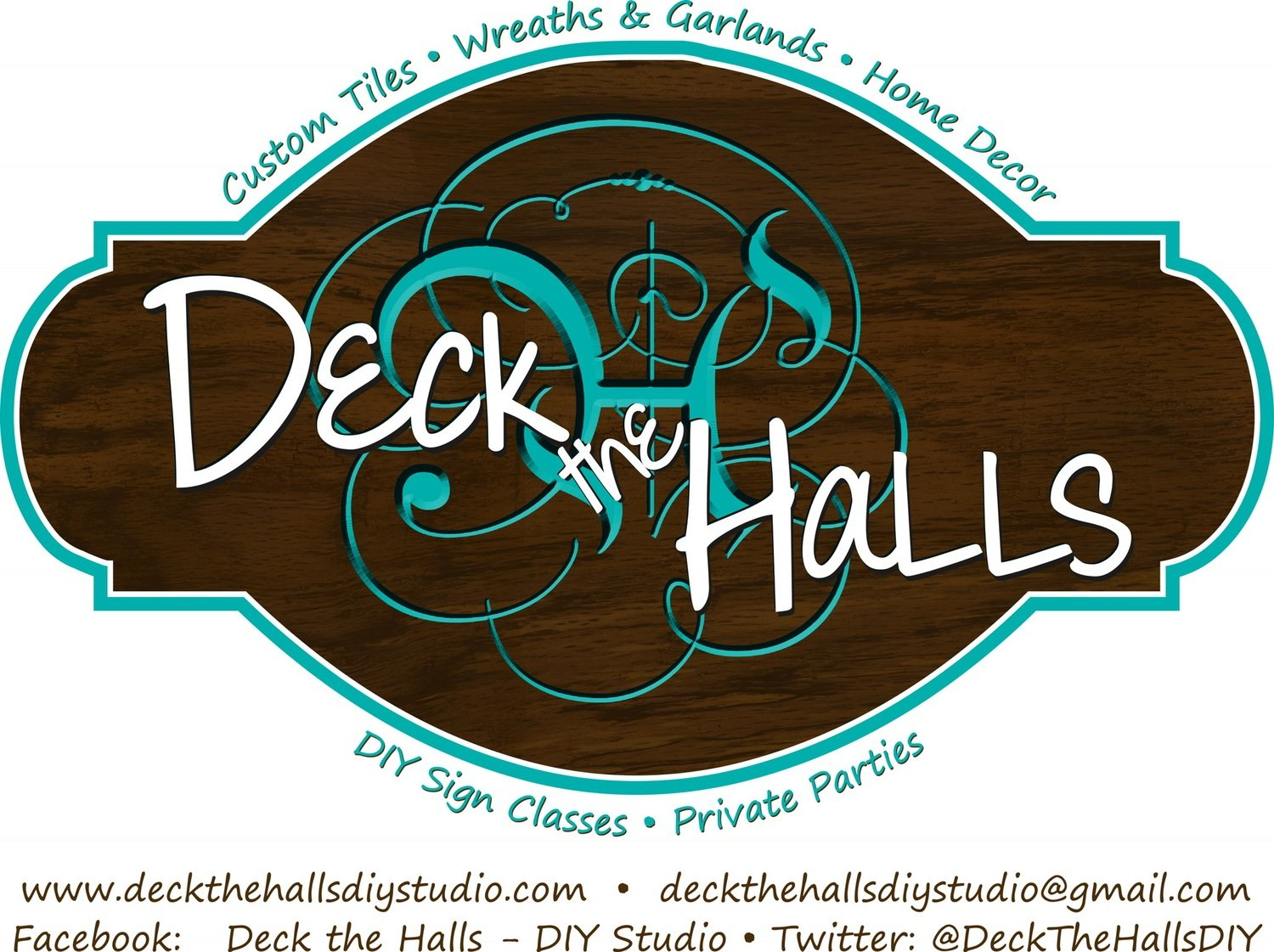 Sign Created by the Deck the Halls Staff