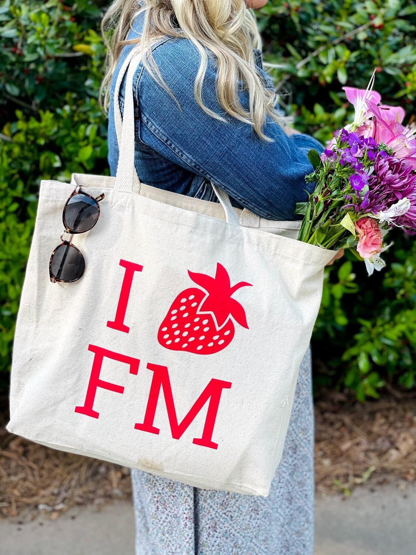 FMN Strawberry Canvas Tote
