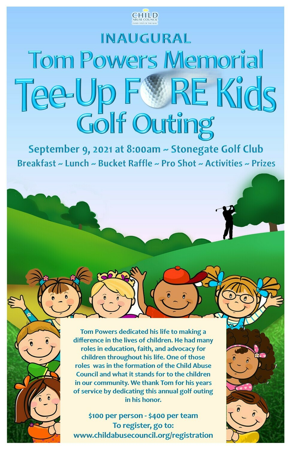 Tom Powers Memorial Tee-Up FORE Kids Golf Outing Registration
