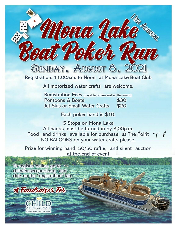 Mona Lake Boat Poker Run Registration