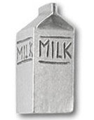 Milk Carton Pewter Pin