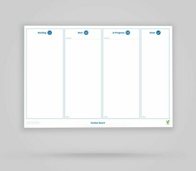 Vi-Board: Kanban Board 4 Spalten - Whiteboard Poster - DIN A0