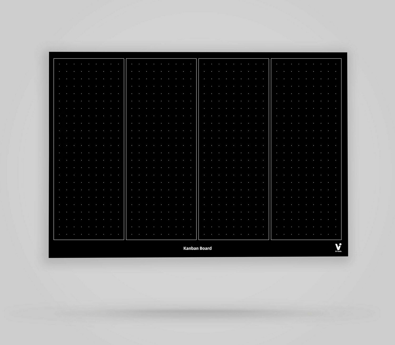 Vi-Board: Kanban Board 4 Spalten unbeschriftet - Blackboard Poster - DIN A0