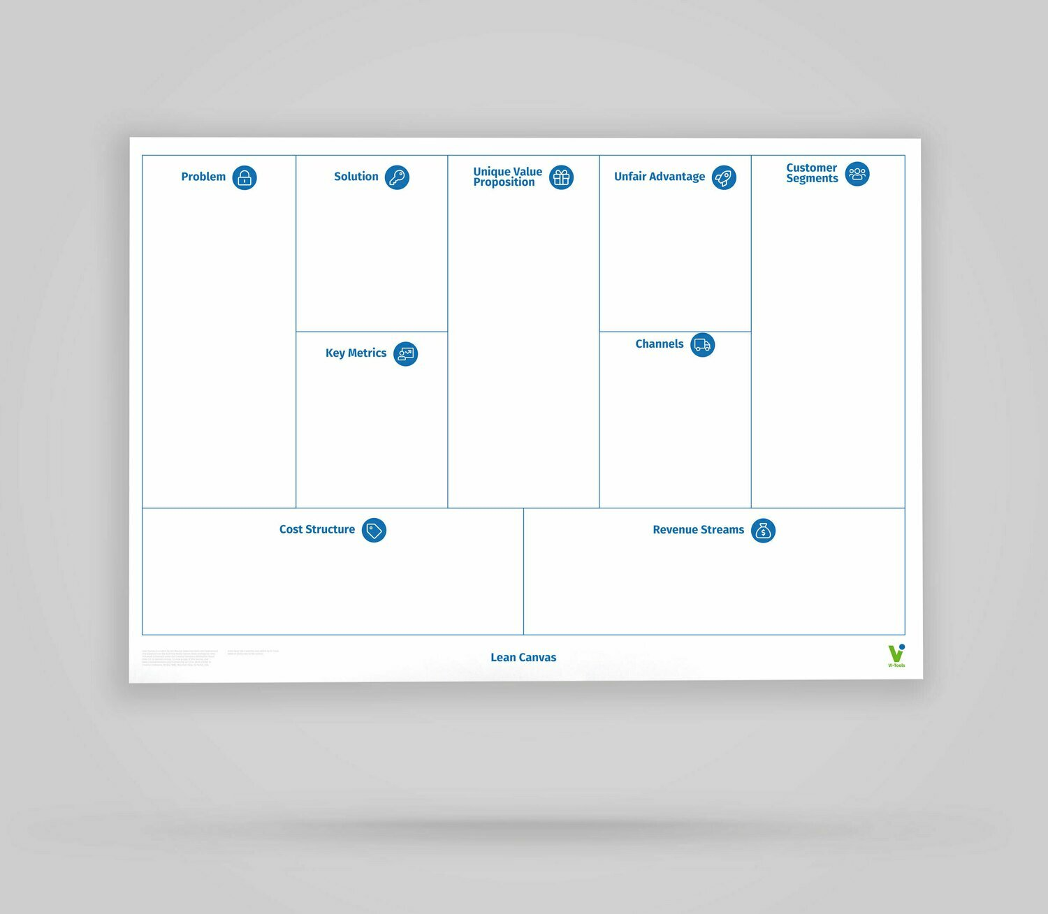 Vi-Board: Lean Canvas - Whiteboard Poster - DIN A0