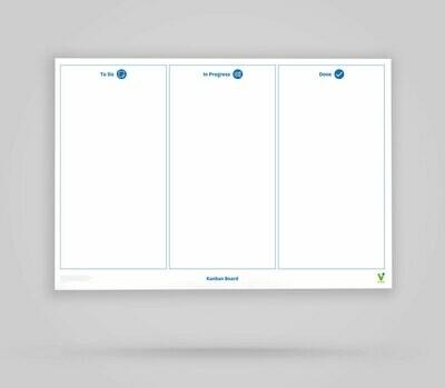 Vi-Board: Kanban Board 3 Spalten - Whiteboard Poster - DIN A0