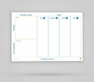 Vi-Board: Prioritization Scrum Board - Whiteboard Poster - DIN A0