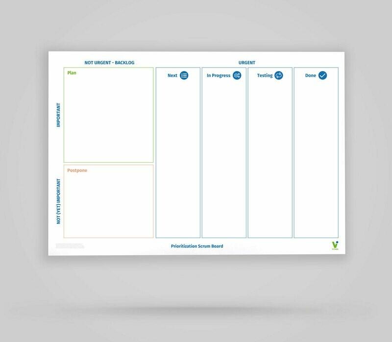 Vi-Board: Prioritization Scrum Board - Whiteboard Poster - DIN A0
