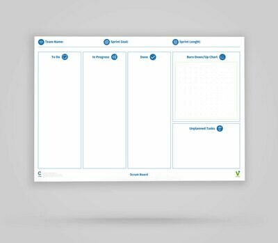 Vi-Board: Scrum Board - Whiteboard Poster - DIN A0