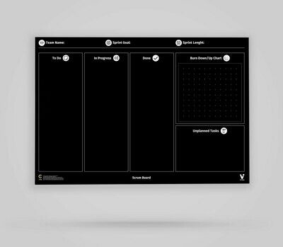 Vi-Board: Scrum Board - Blackboard Poster - DIN A0