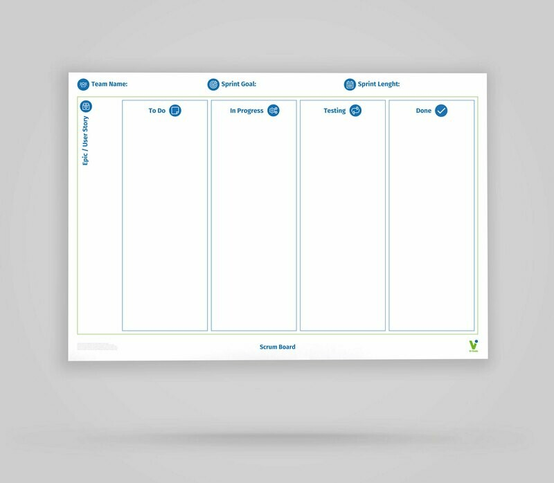Vi-Board: Scrum Epic/User Story Board - Whiteboard Poster - DIN A0