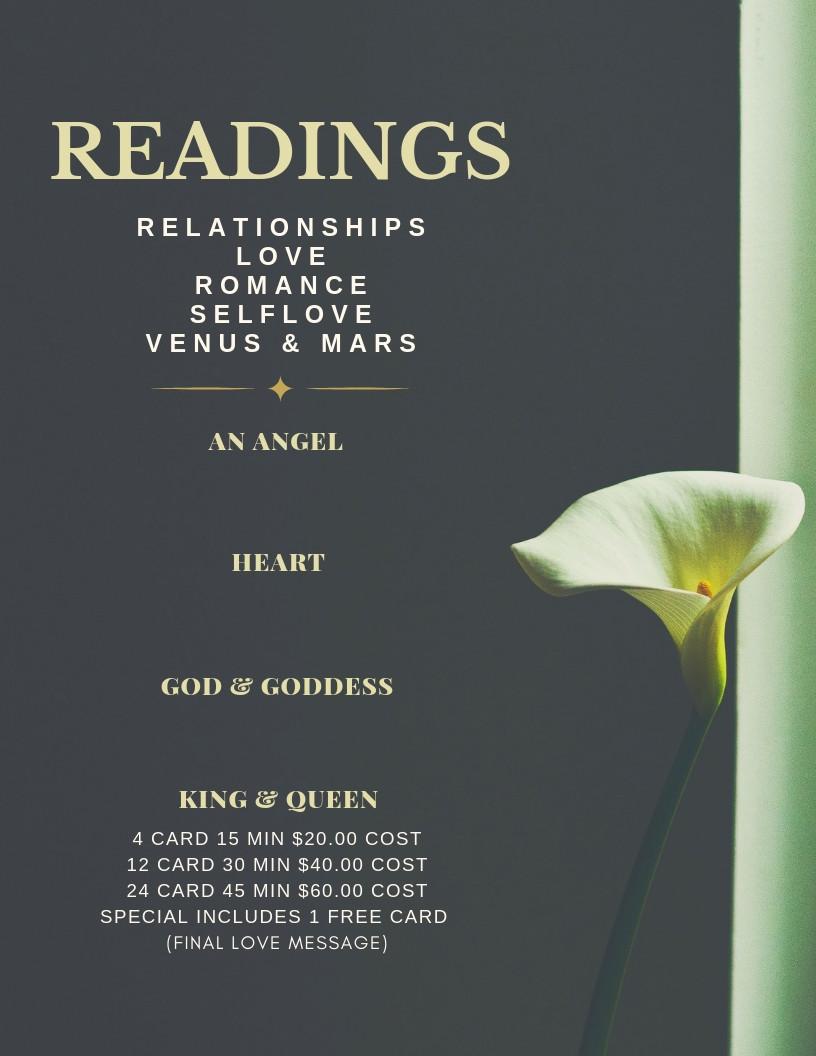 Romance Venus & Mars -Oracle Readings