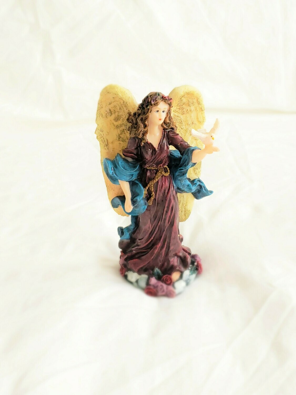 Vintage Angel Fairy with dove Statue  Inspirational Standing