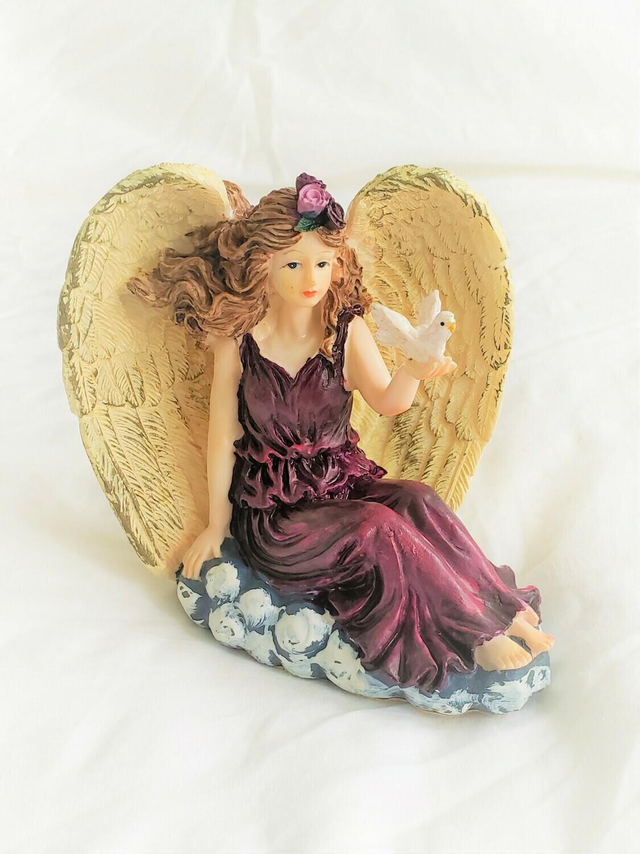 Vintage Angel Fairy Inspirational Statue- zenagallerycostones