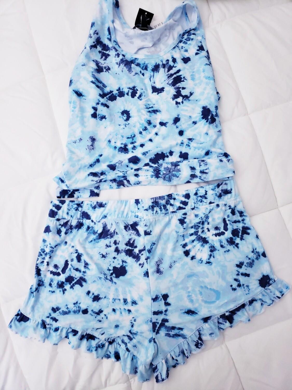 Bohemian CHIC- Tank & Shorts Boho Ty-dye Set