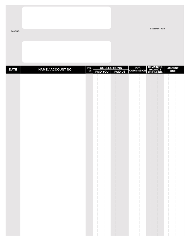 Statement Forms for CDS & CSS