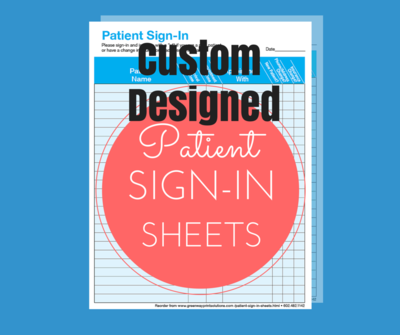 Custom Designed One part Sign-in Sheets
