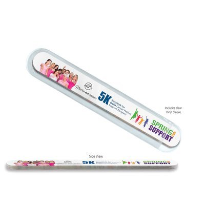 Multi-Color Thick Foam Nail File.  Full color. Can be a business card.  $0.79 each