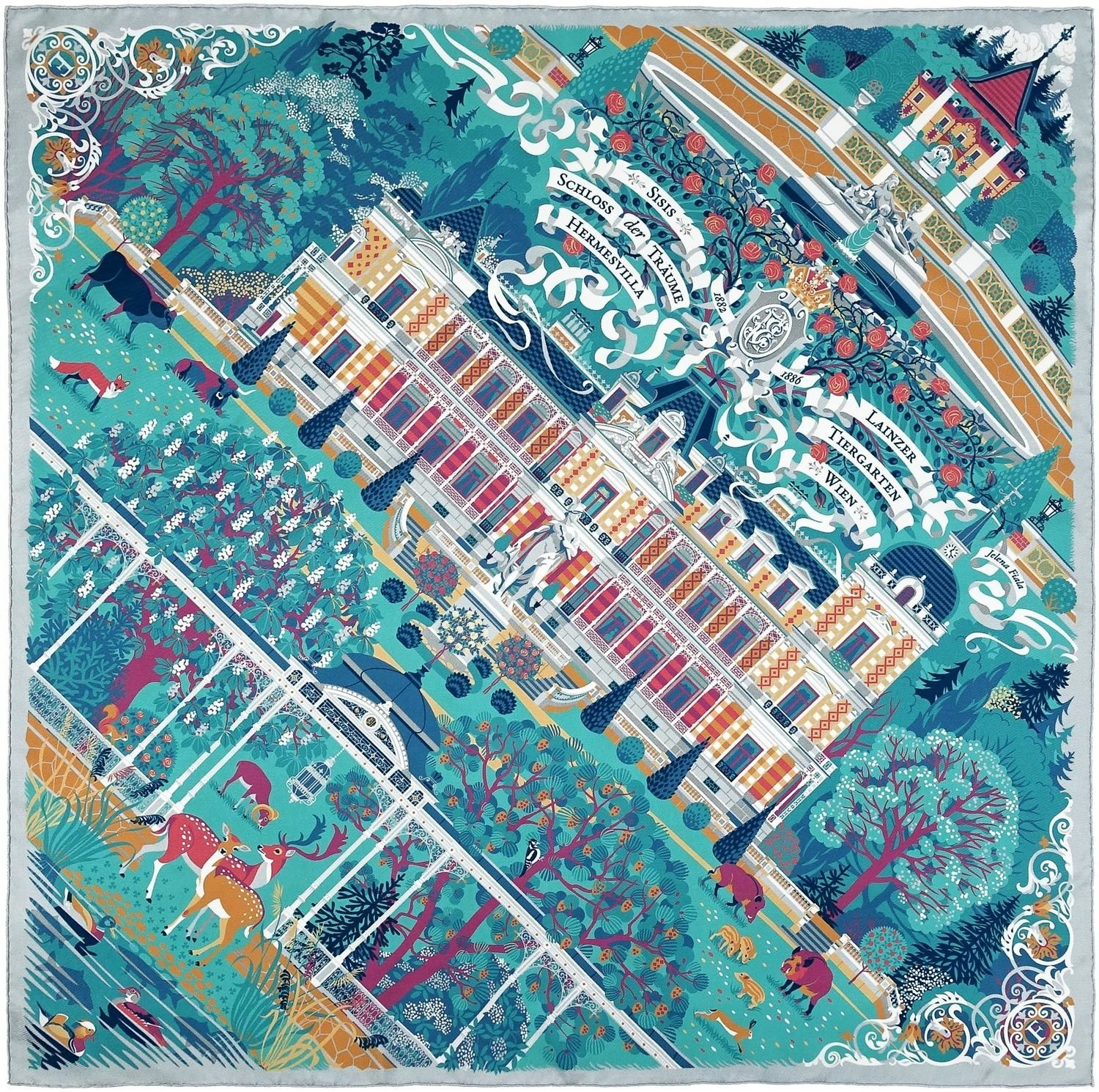 "Silk scarf ""Palace of Dreams"""