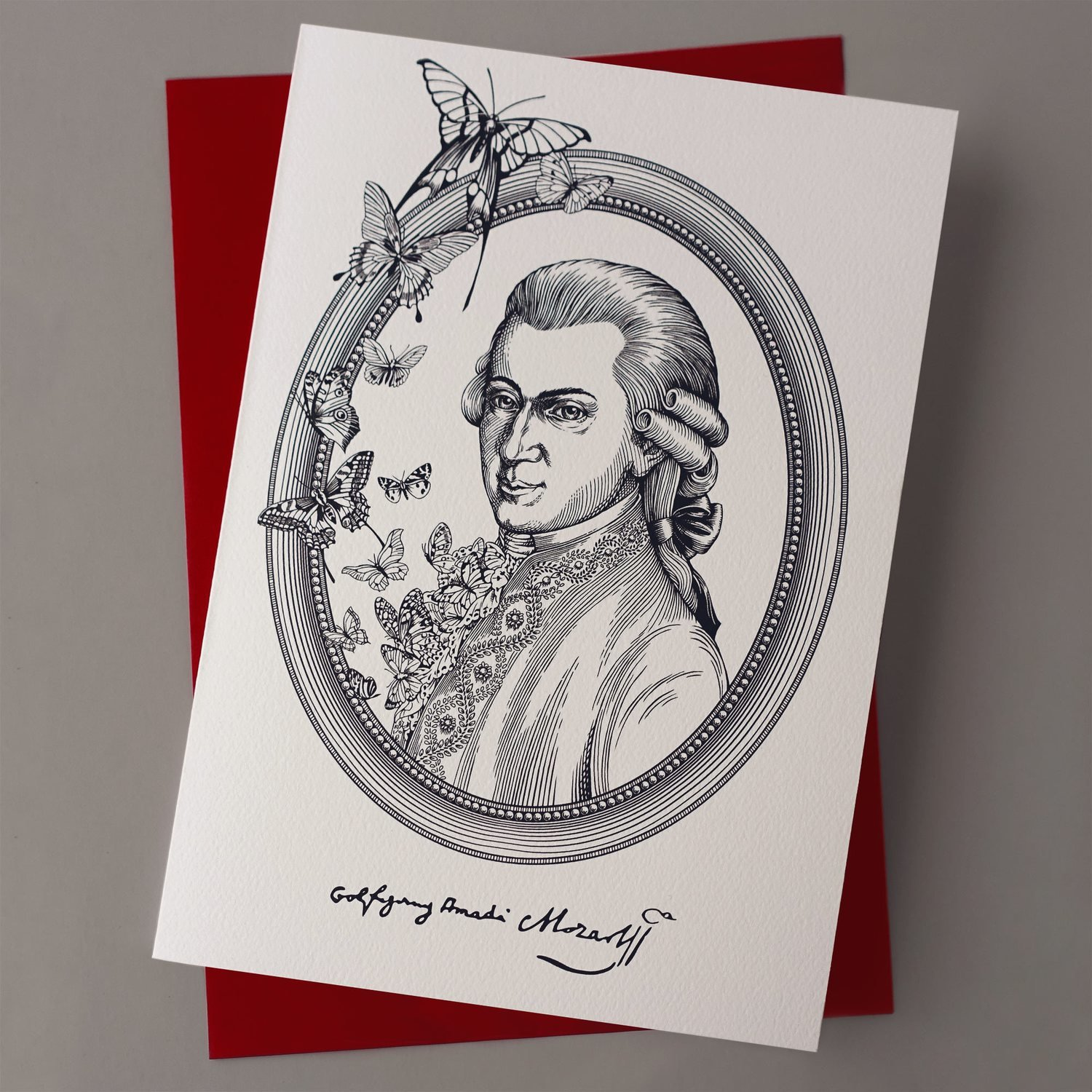 "Greeting card ""Mozart"""