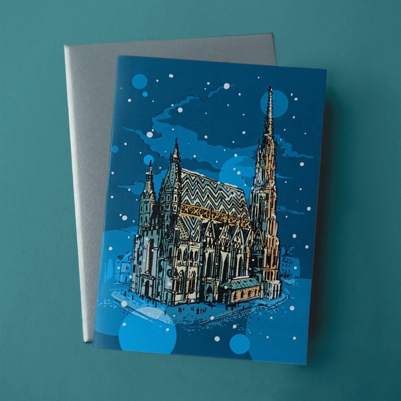 "Christmas card ""Stephansdom"""