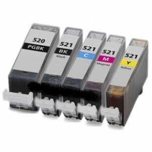 PACK 520/521 5pcs (BK+BK+C+M+Y)