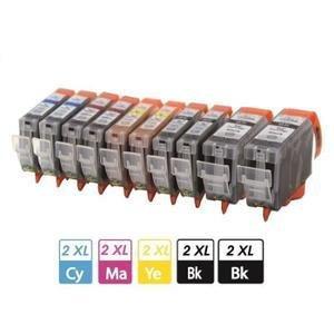 PACK 525/526 10pcs (2BK+2BK+2C+2M+2Y)