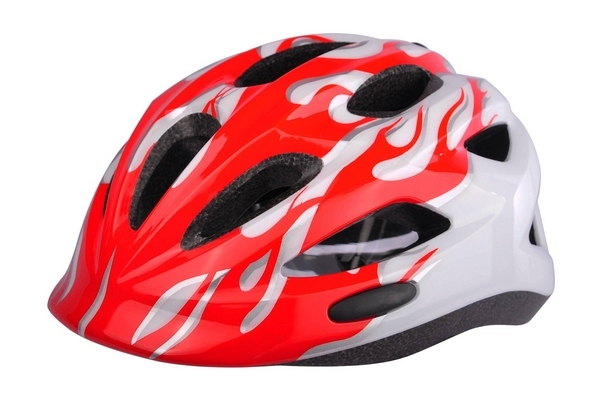 Helm INMOLD Red flames 01637