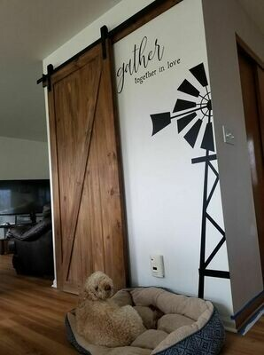 WINDMILL AND GATHER LETTERING (DOG AND DOOR NOT INCLUDED)