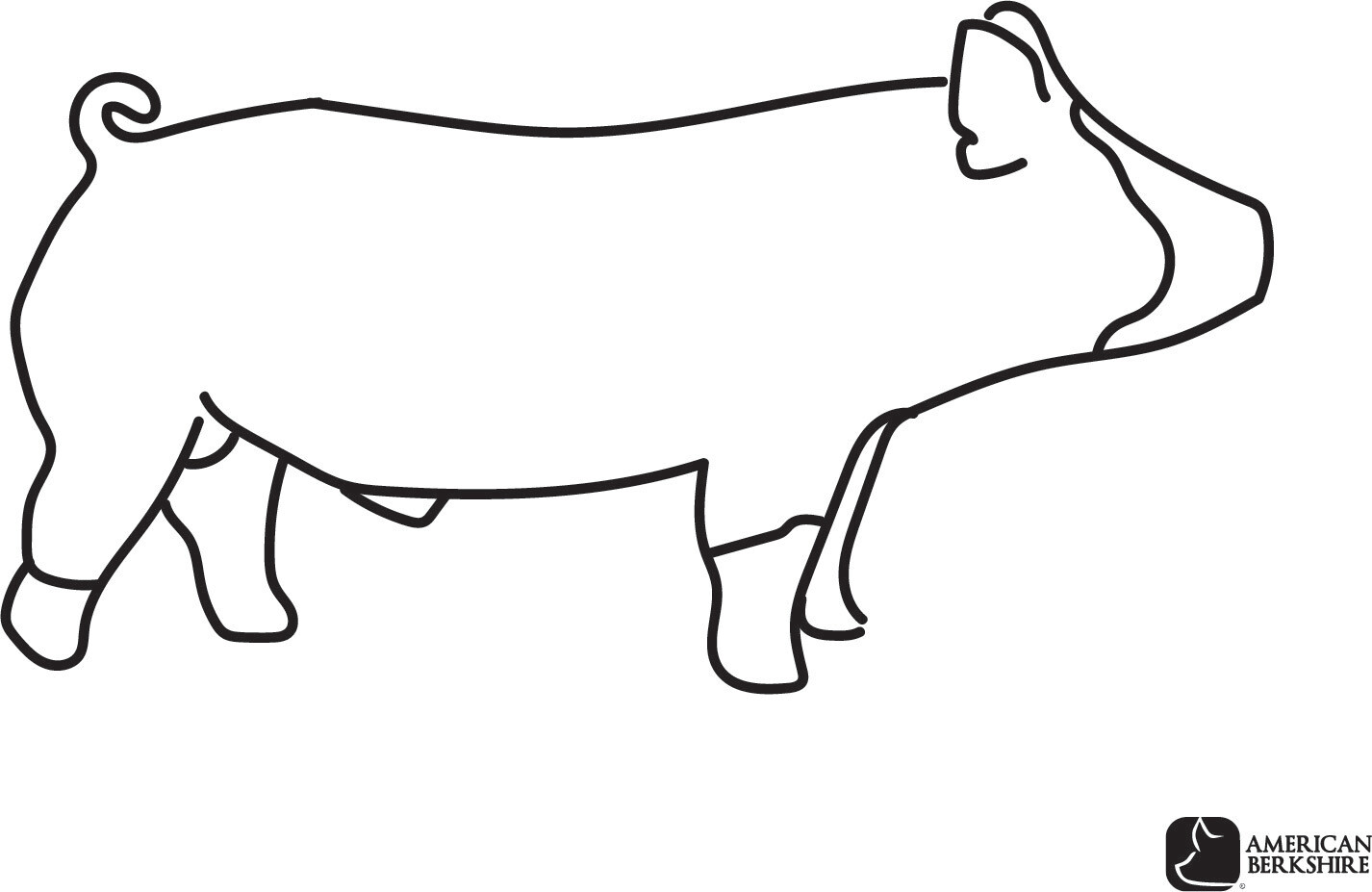 Berkshire Pig Coloring Pages Store American Berkshire Association