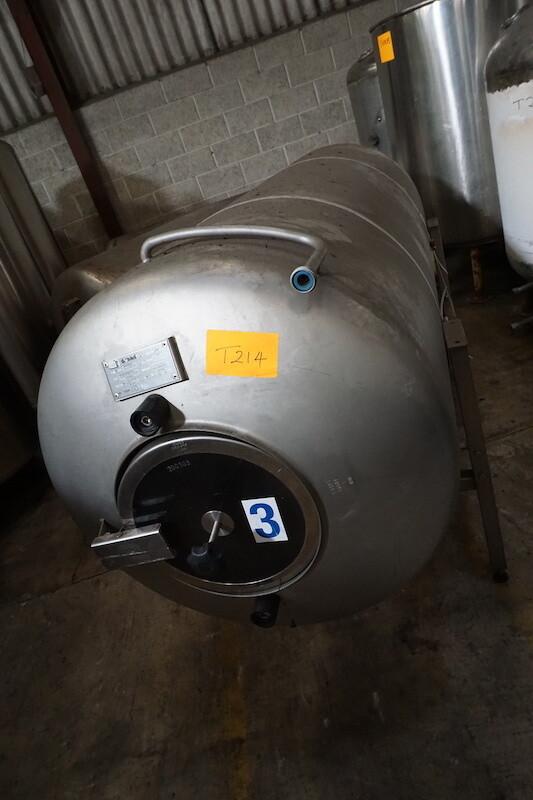 Horizontal Cellar Tank - 1000 Litres - Secondhand