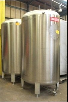 900 Litre - Oval Cellar Tank - Stainless Steel