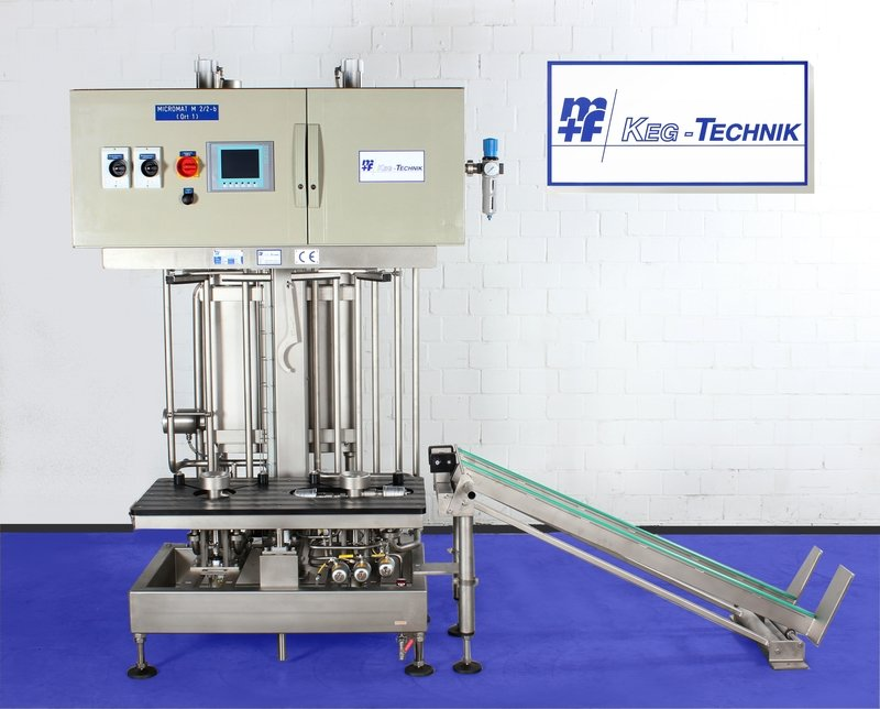 MICROMAT - M 2/2-B - Internal KEG Cleaning & Filling Machine - (Semi-Automatic)