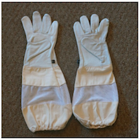 Bee Vented Leather Gloves for Beekeepers