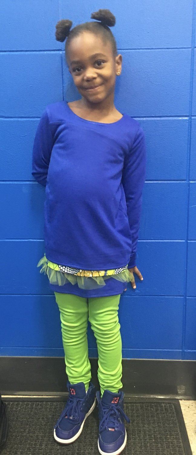 Girls Three Tier Dress And Leggings-Blue Top