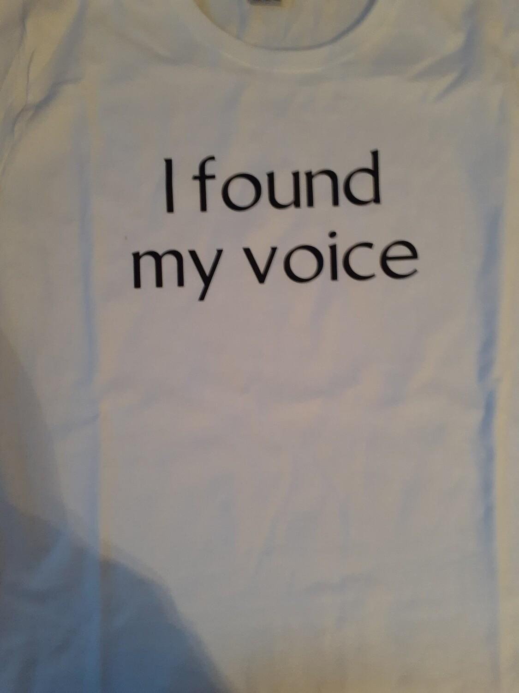 I found my voice-XLarge
