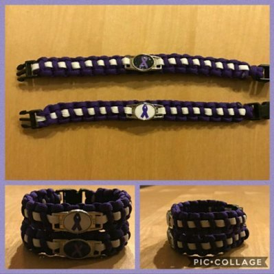 Domestic Violence Ribbon Bracelet