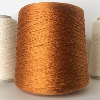 100% натуральный шелк шнурок фактурный 380/100 гр цвет золотой охры