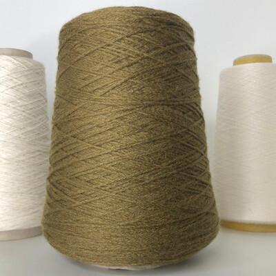 ELISIR - Biella Yarn Кашемир 100%, шнурок, 330м/100гр Темно-зеленый горчично-коричневый цвет