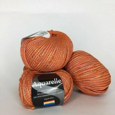 Aquarelle Sesia 54% вискоза, 36% хлопок, 10% п/а 164м/100гр col. 1593   Оранжевый