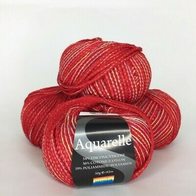 Aquarelle Sesia    54% вискоза, 36% хлопок, 10% п/а 82м/50гр col 1477   Красный