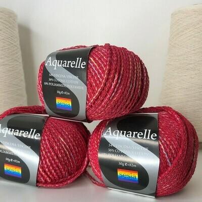 Aquarelle Sesia  54% вискоза, 36% хлопок, 10% п/а 82м/50гр col 181, цвет: малиновый