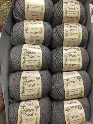 100% шерсть Lana Virgine Green Wool  Manifatura Sesia   10*50 гр 80м/50 гр col 9202 цена за моток 50гр