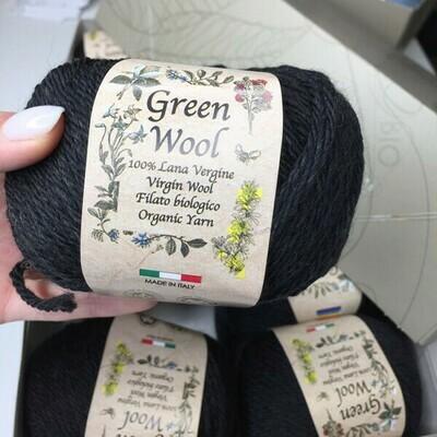 100% шерсть Lana Virgine  Green Wool Manifatura Sesia 10*50 гр 80м/50 гр col 9204   Цена за моток 50гр