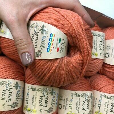 100% шерсть Lana Virgine Green Wool  Manifatura Sesia 10*50 гр 80м/50 гр col. 9213  Цена за моток 50гр