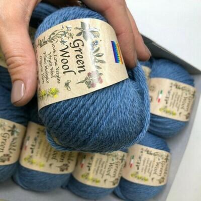 100% шерсть Lana Virgine  Green Wool Manifatura Sesia 10*50 гр 80м/50 гр col 9216. Цена за моток 50гр